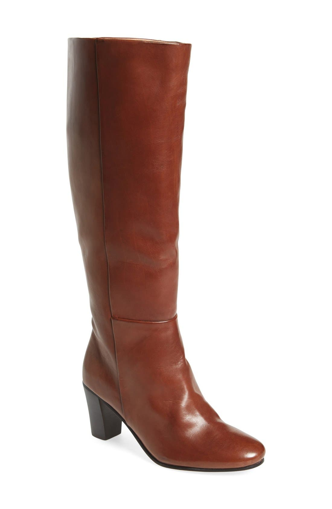 'Meredith' Boot,                             Main thumbnail 1, color,                             Bourbon Leather