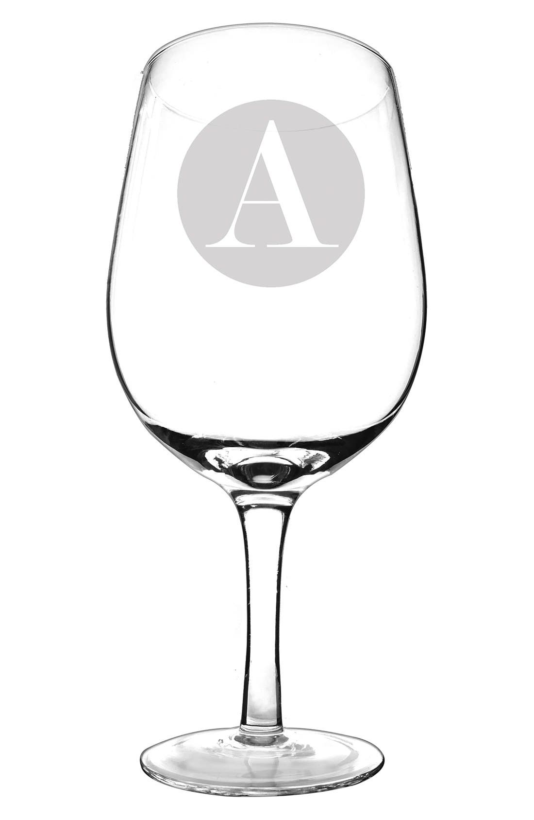Cathy's Concepts Monogram 'XL' Novelty Wine Glass