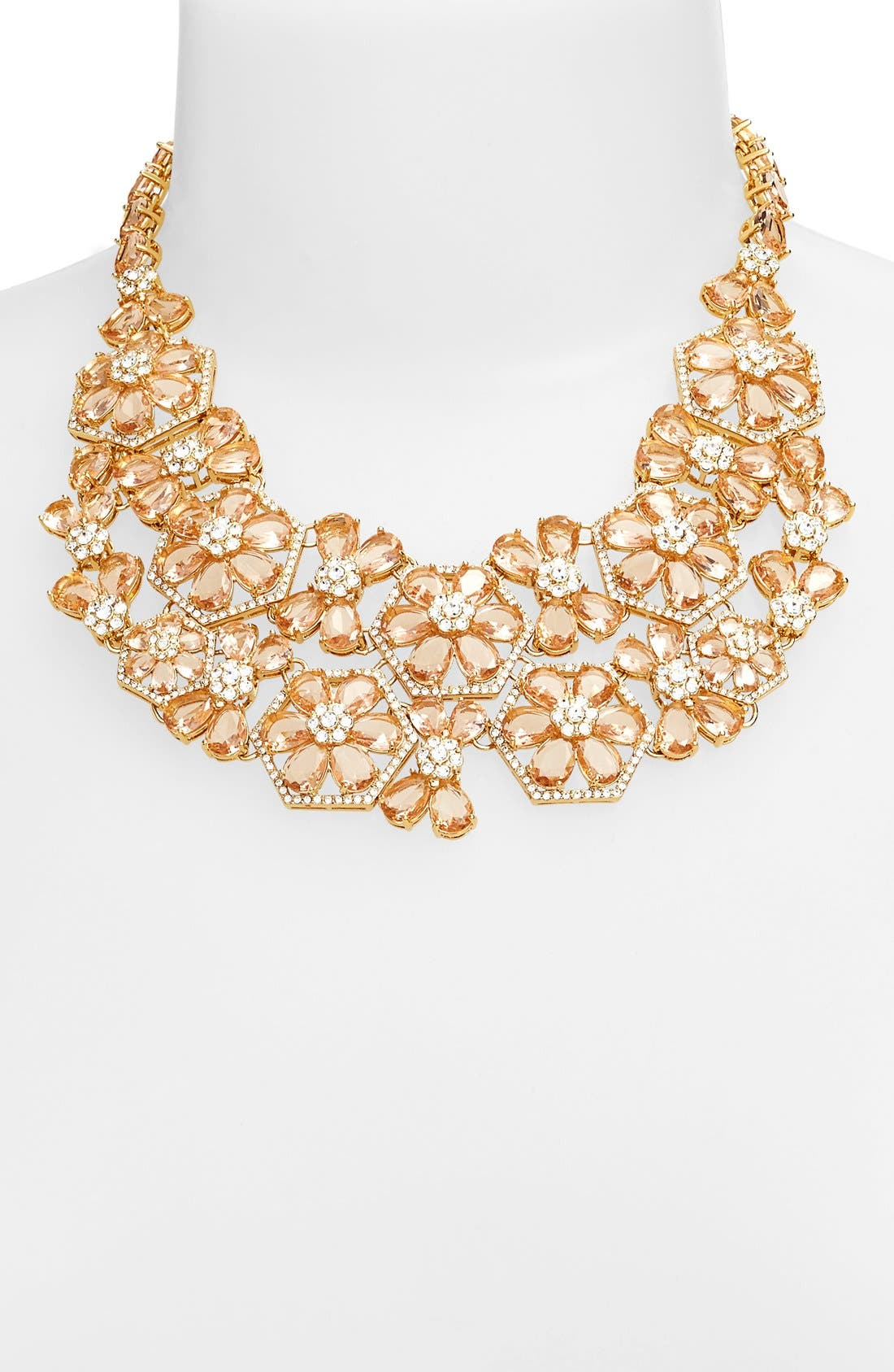 Alternate Image 2  - kate spade new york 'at first blush' floral bib necklace