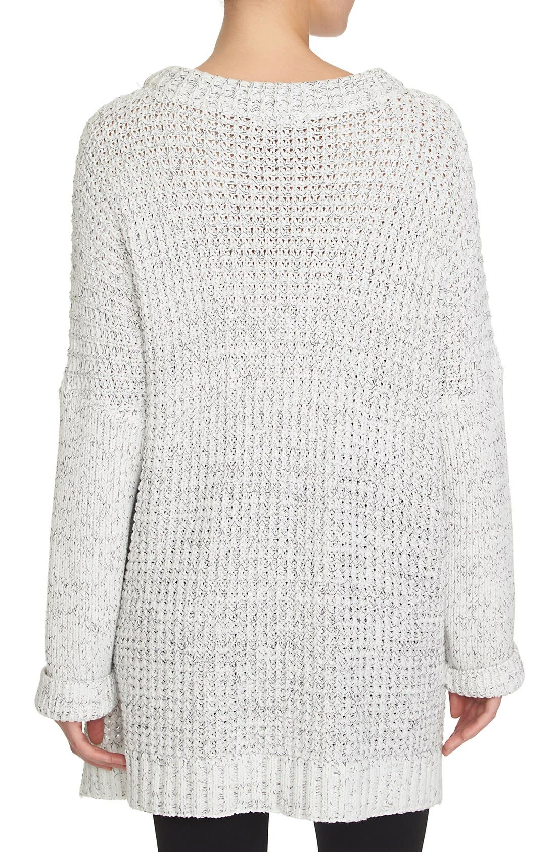 Alternate Image 2  - 1.STATE Cable Knit Poncho Sweater