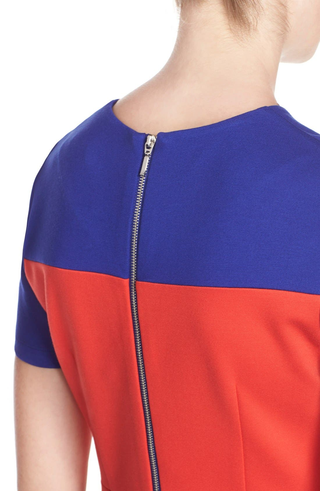 Alternate Image 5  - French Connection ColorblockJersey Sheath Dress