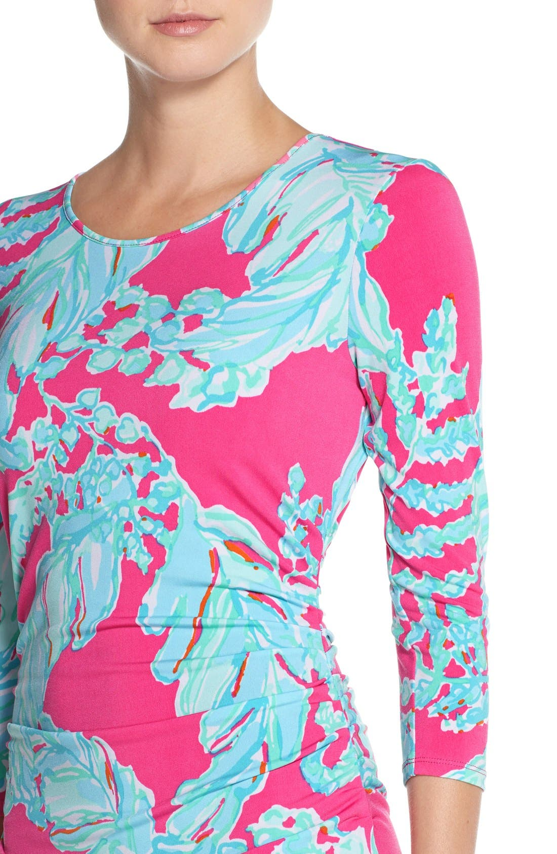 Alternate Image 4  - Lilly Pulitzer® 'Madison' Ruched Jersey Sheath Dress