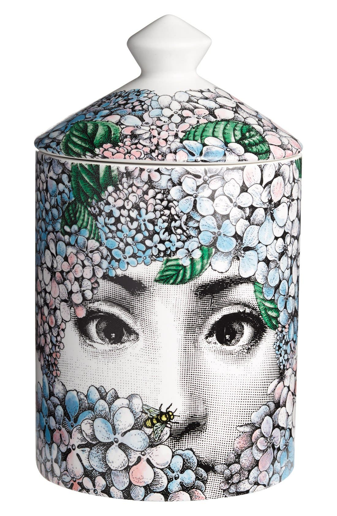 Alternate Image 1 Selected - Fornasetti 'Ortensia - Flora' Lidded Candle
