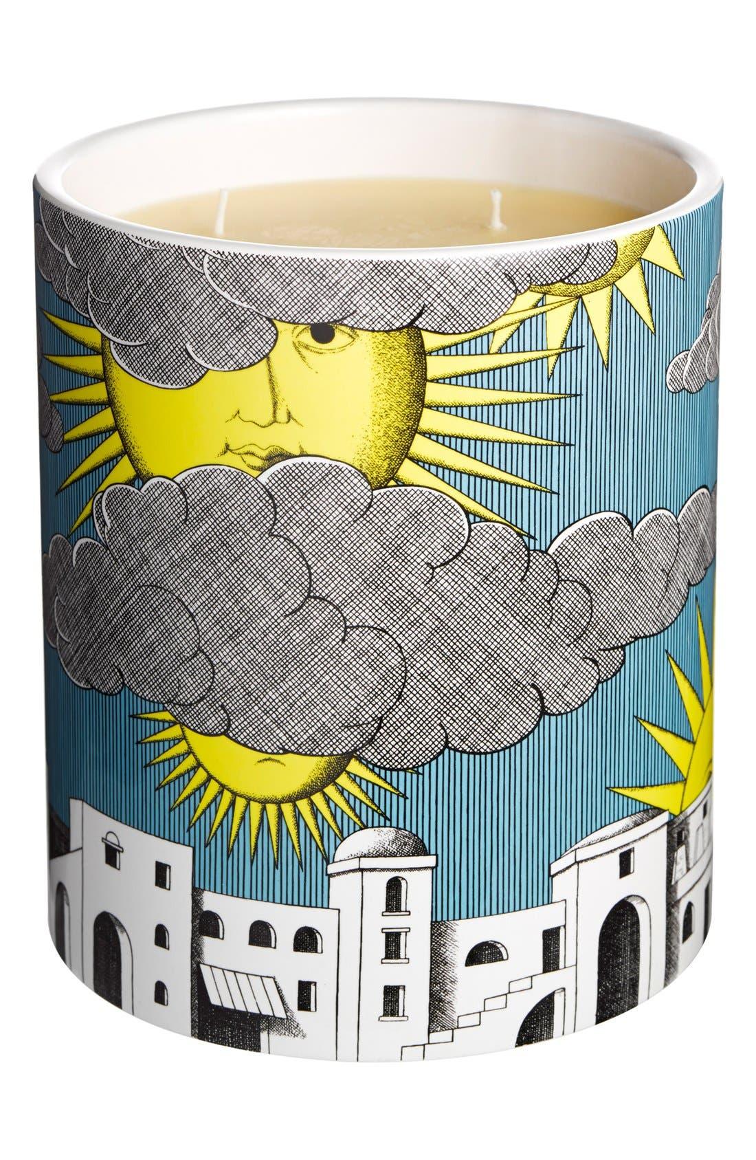 Fornasetti 'Sole di Capri' Large Candle