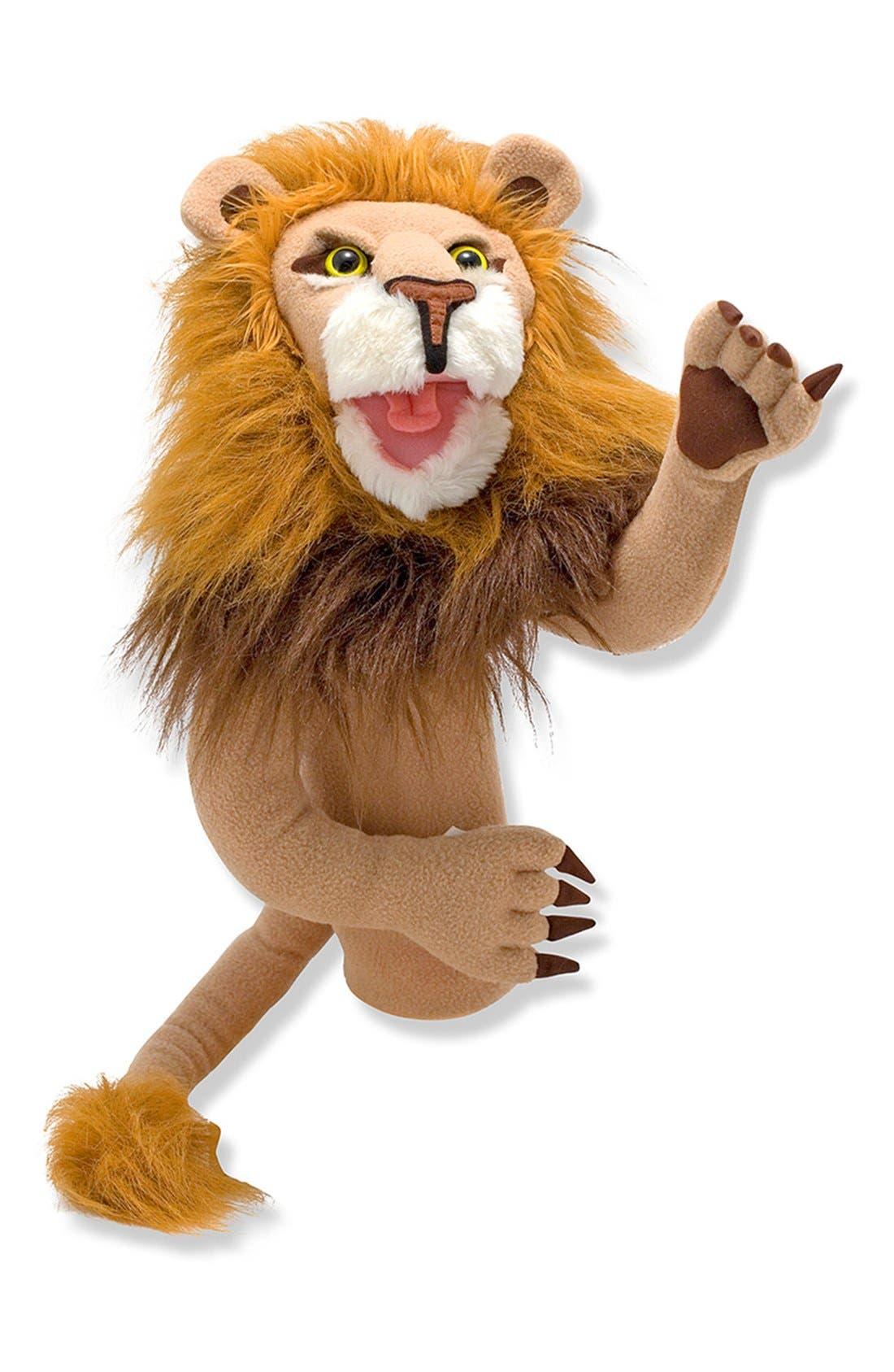 Lion Puppet,                             Main thumbnail 1, color,                             Brown