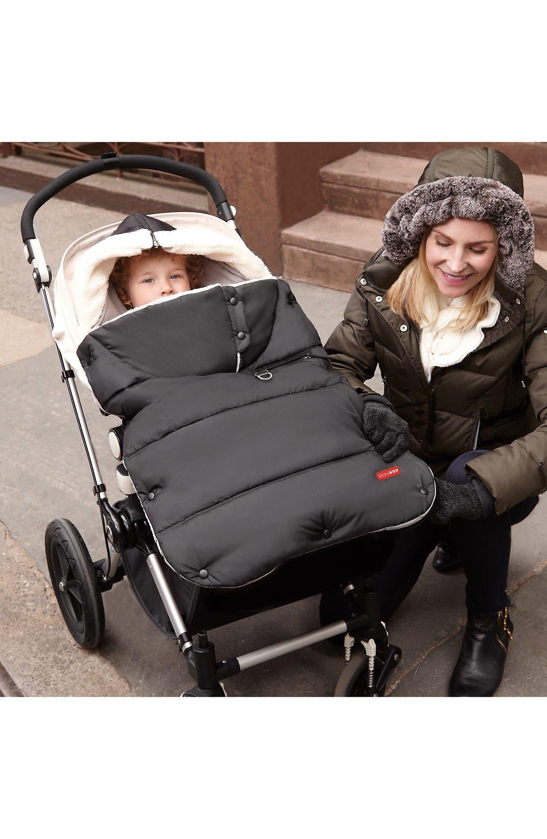 Alternate Image 2  - Skip Hop 'Stroll & Go Three Season' Hooded Windproof & Water Resistant Footmuff (Toddler)