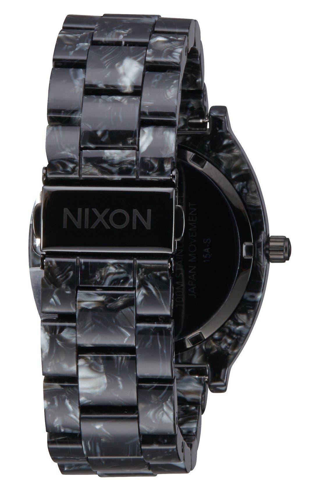 'The Time Teller' Bracelet Watch, 37mm,                             Alternate thumbnail 2, color,                             Black/ Black
