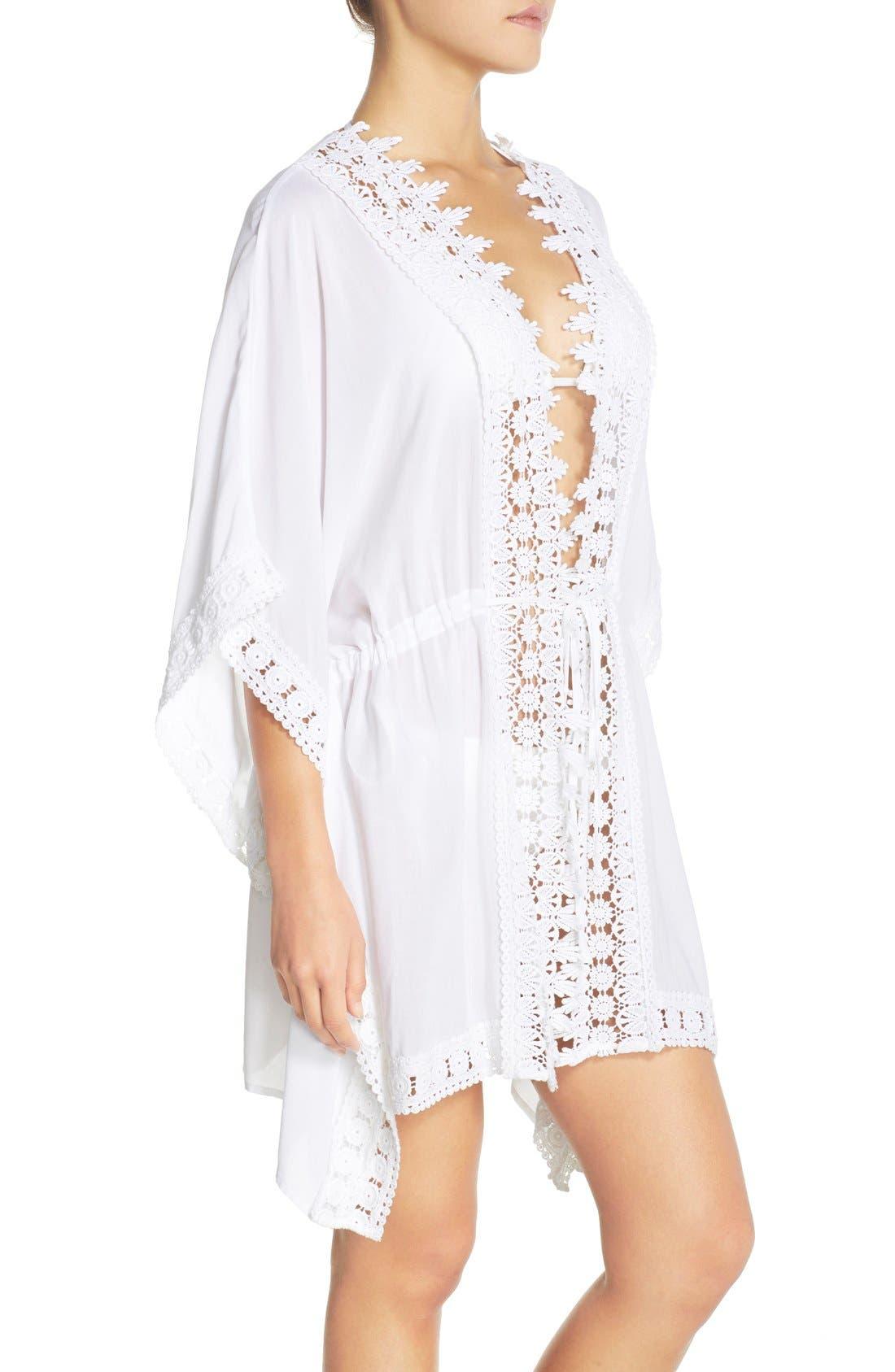 Alternate Image 3  - La Blanca 'Costa Brava' Crochet Cover-Up Kimono