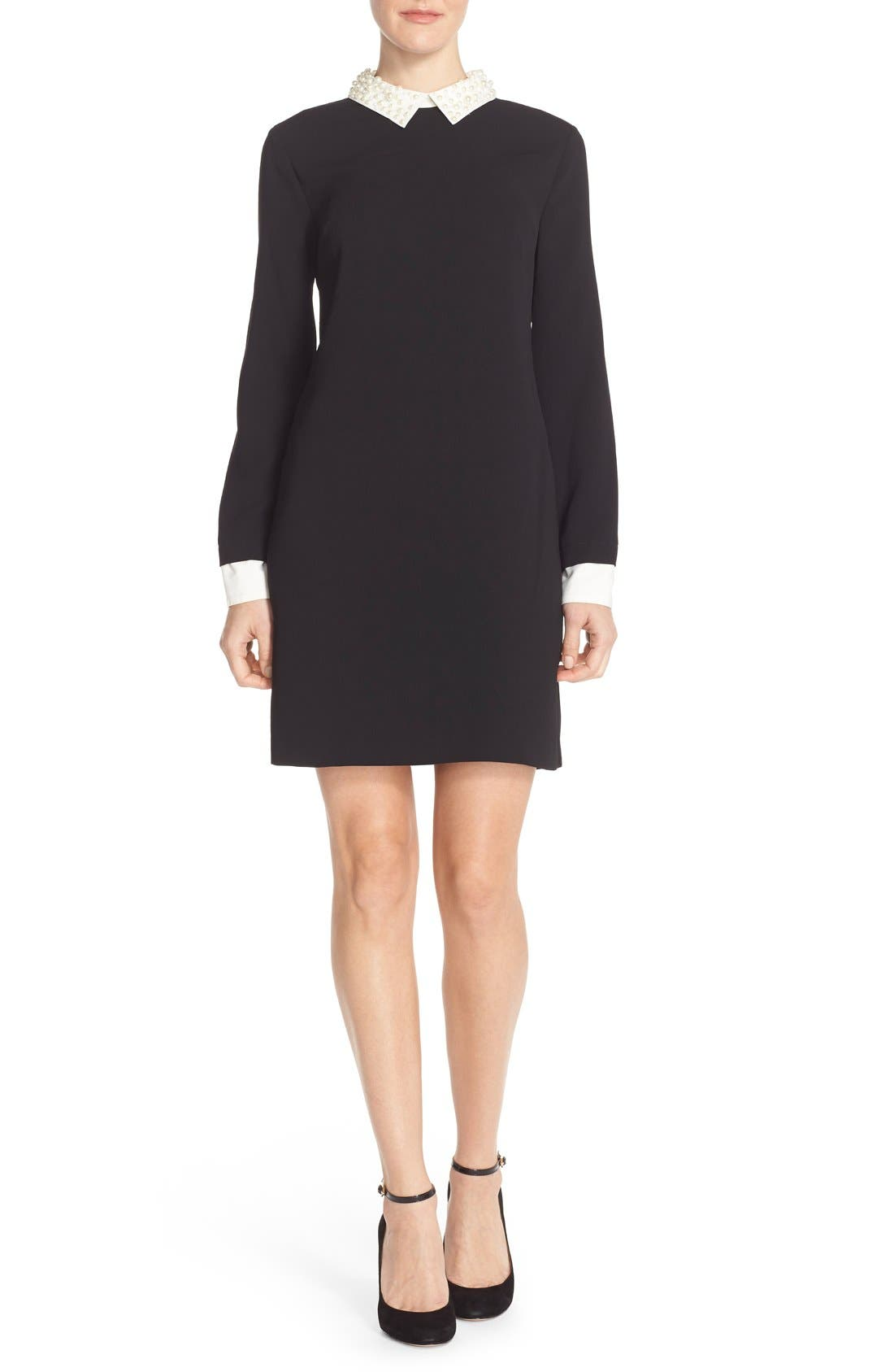 Alternate Image 4  - CeCe by Cynthia Steffe Pearl Collar Crepe Shift Dress