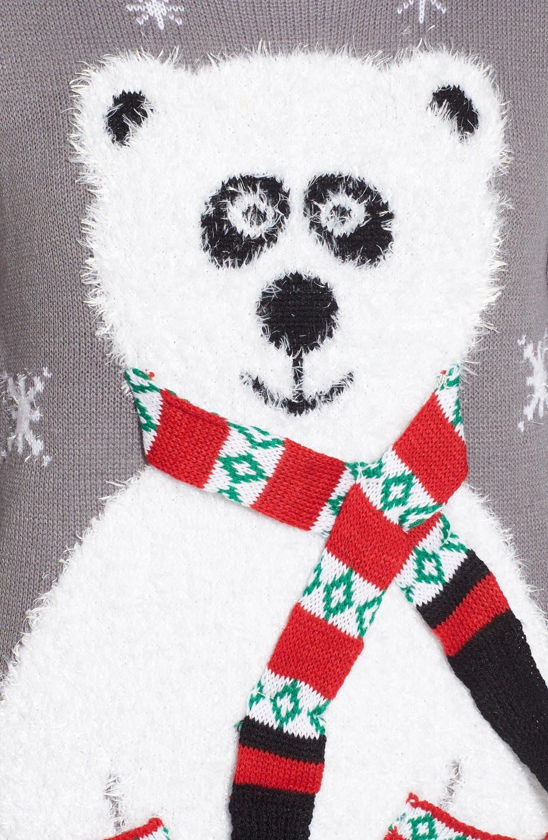 Alternate Image 5  - Derek Heart Polar Bear Christmas Sweater
