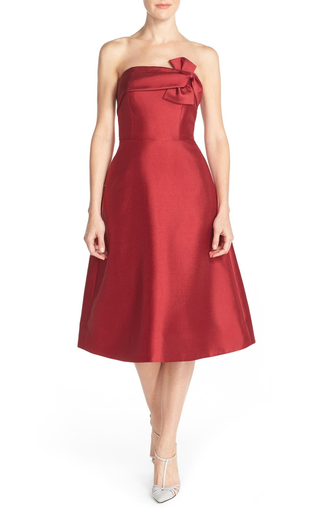 Main Image - ERIN erin fetherston 'Katie' Bow Neck Twill Fit & Flare Dress