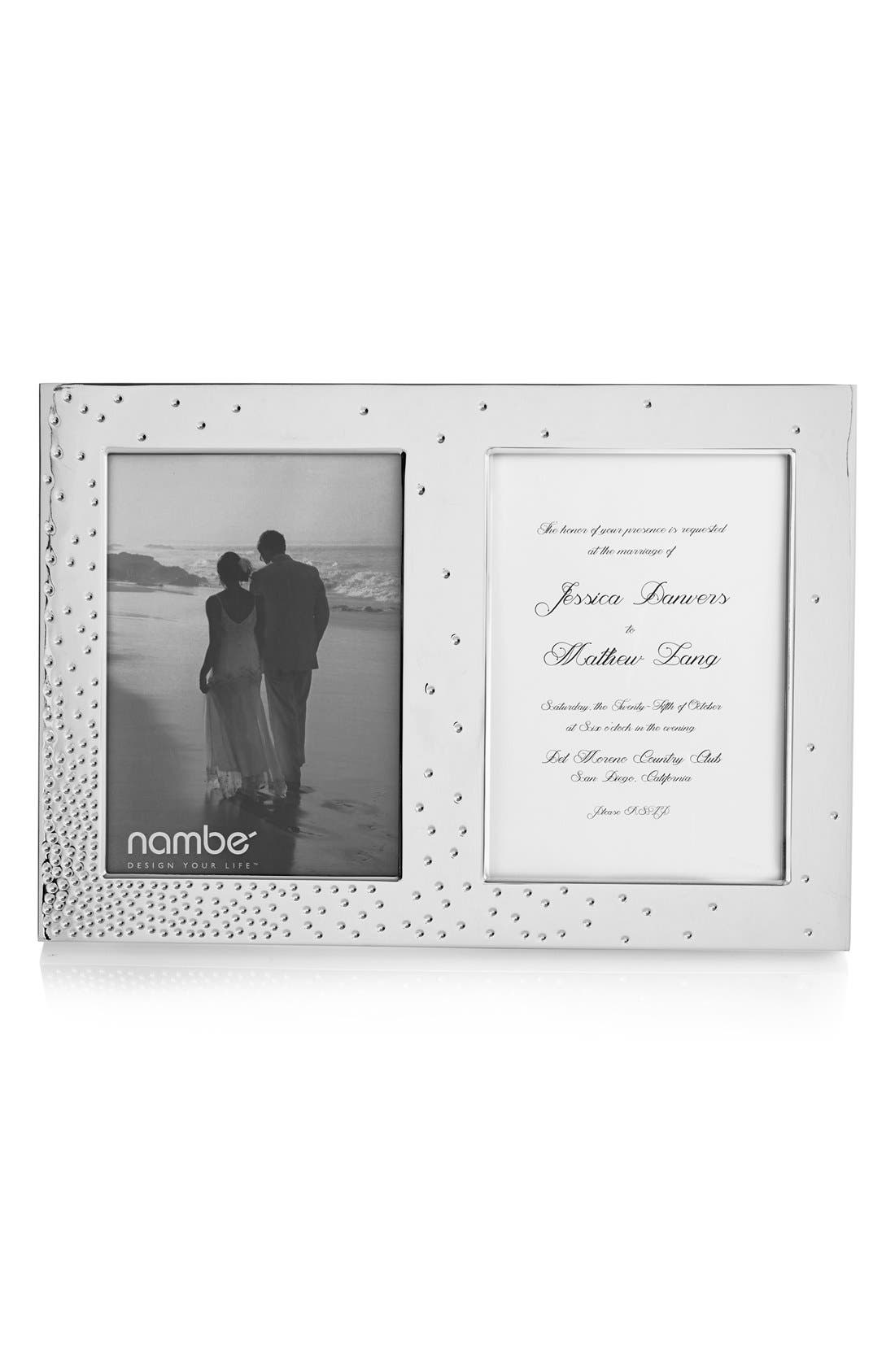 Dazzle - Double Invitation Picture Frame,                             Main thumbnail 1, color,                             Silver