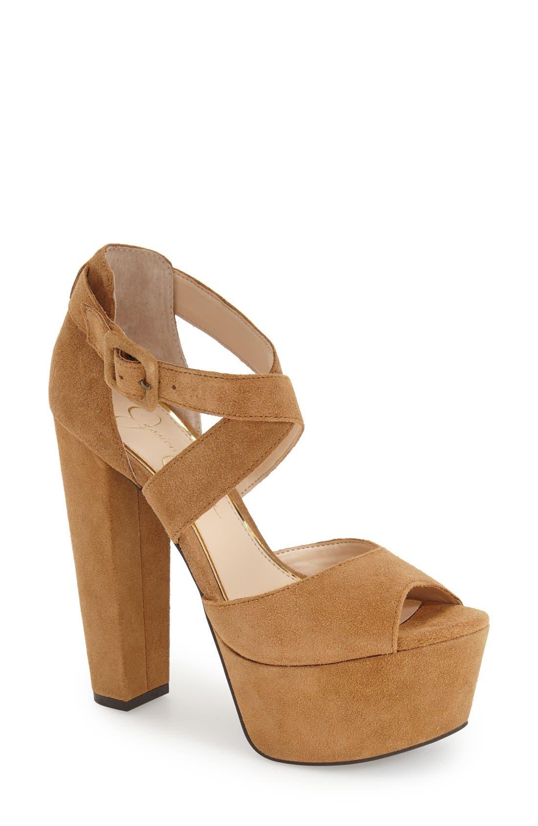 Alternate Image 1 Selected - Jessica Simpson 'Derian' Platform Sandal (Women)
