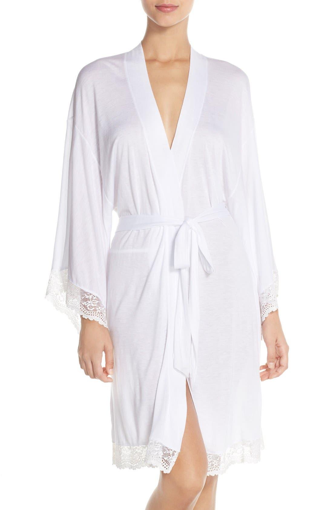 'Colette' Kimono Robe,                             Main thumbnail 1, color,                             White