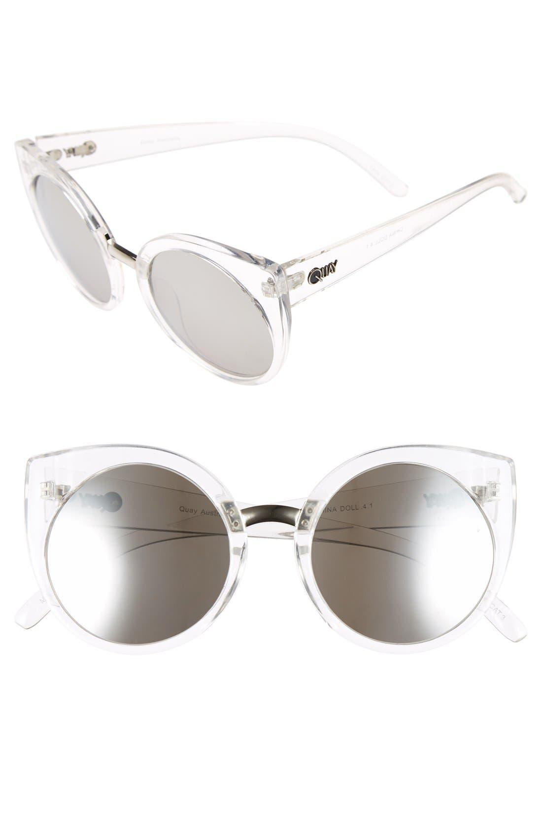 Alternate Image 1 Selected - Quay Australia 'China Doll' 55mm Translucent Cat Eye Sunglasses