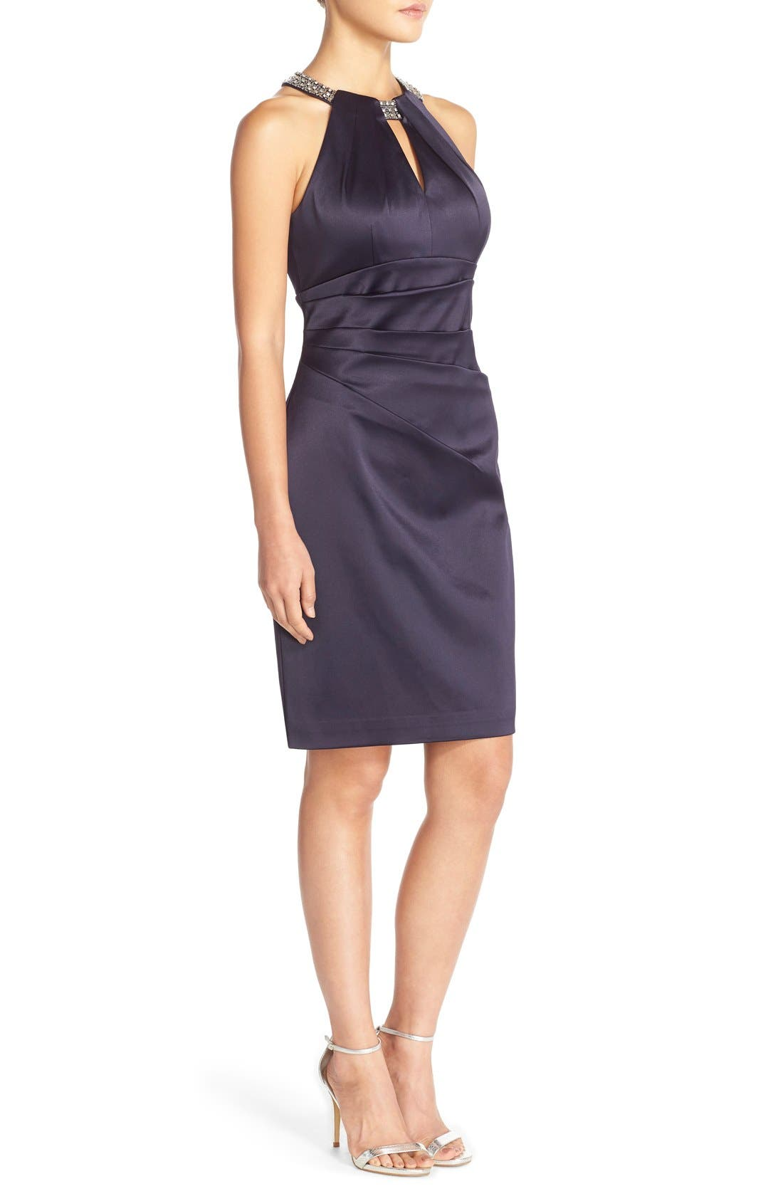 Alternate Image 3  - Eliza J Embellished Neck Sheath Dress