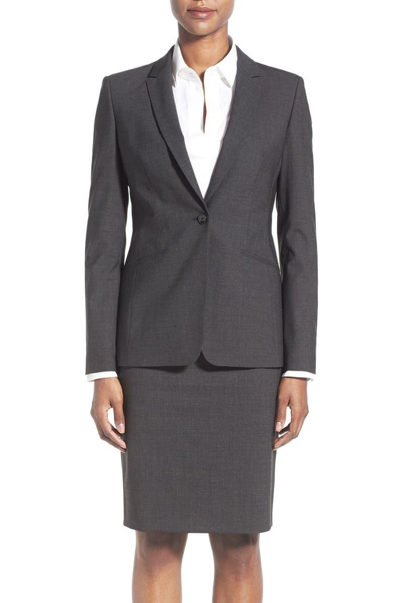 Jabina Tropical Stretch Wool Jacket