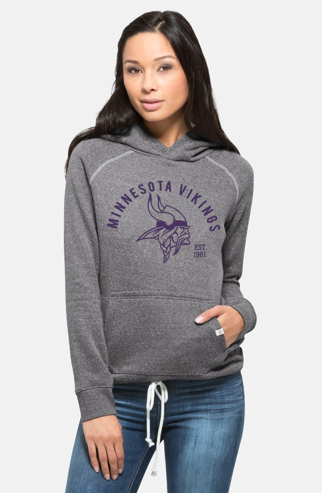 Alternate Image 1 Selected - '47 'Minnesota Vikings - Stadium' Graphic Hoodie