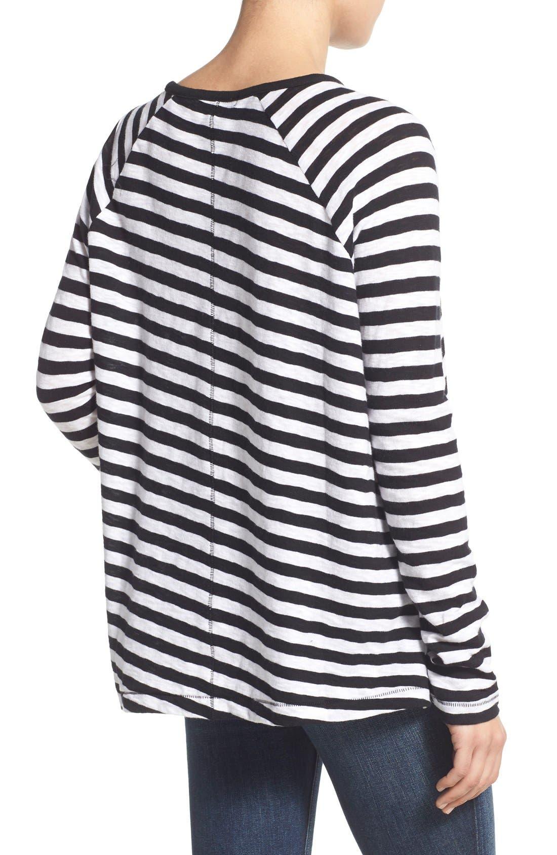 Alternate Image 2  - rag & bone/JEAN 'Camden' Stripe Long Sleeve Tee