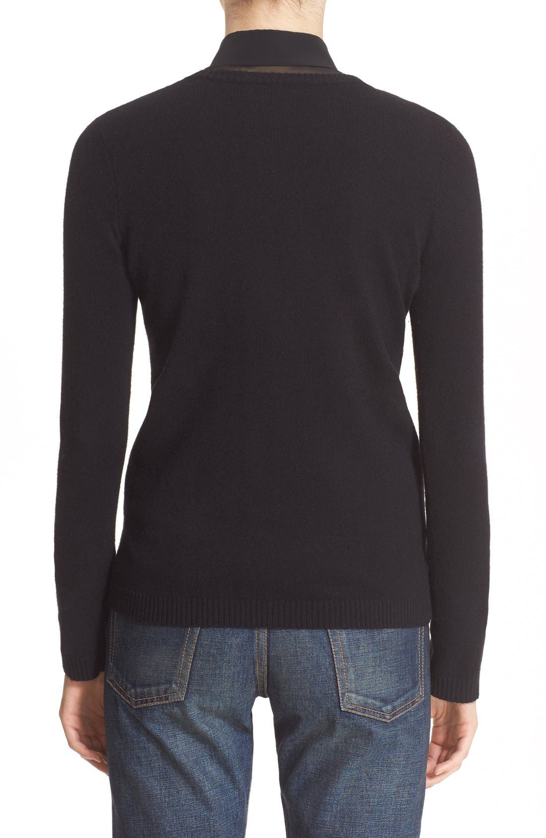 '1970' Wool Sweater,                             Alternate thumbnail 2, color,                             Black