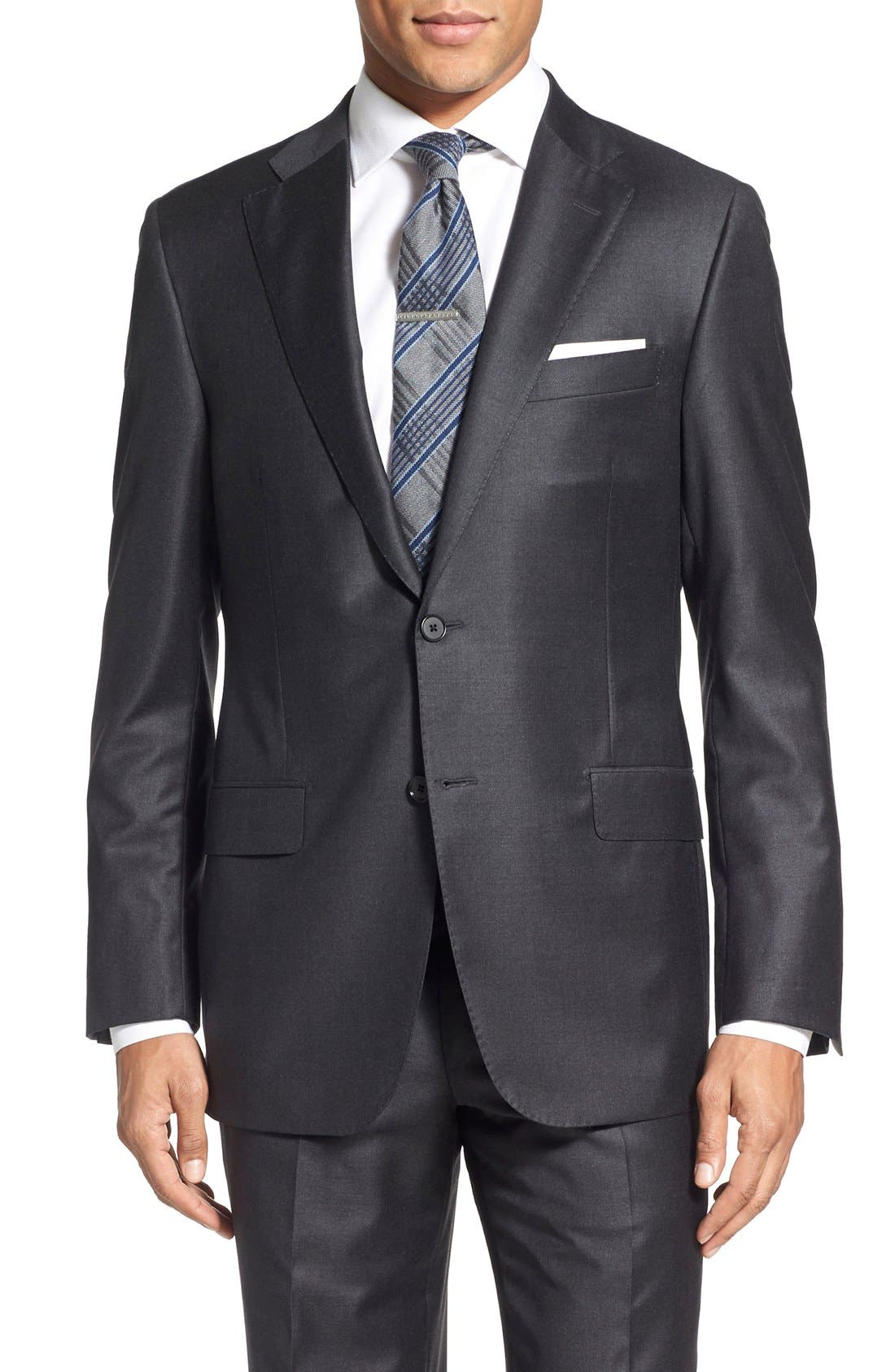 Alternate Image 5  - Hickey Freeman Classic B Fit Solid Wool Suit