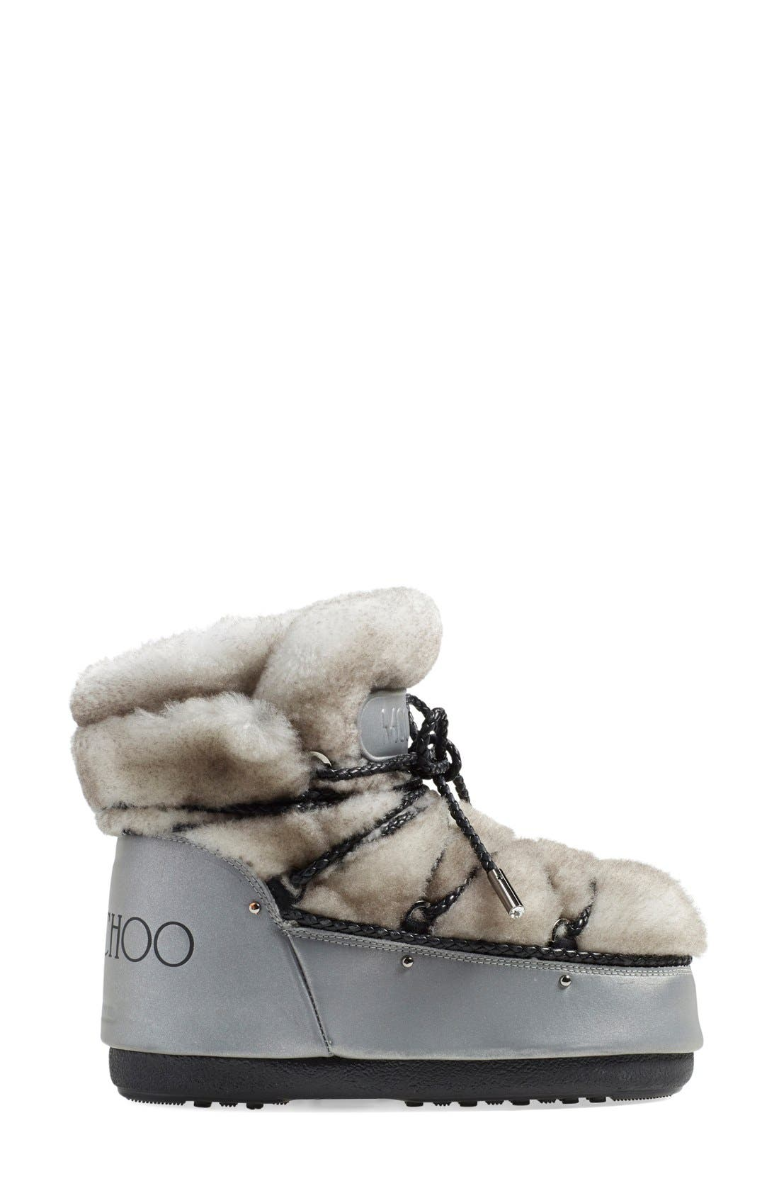 Alternate Image 4  - Jimmy Choo Genuine Shearling Moon Boot® (Women)