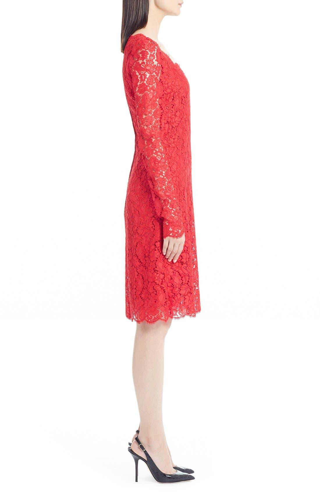 Alternate Image 4  - Dolce&Gabbana Square Neck Lace Dress