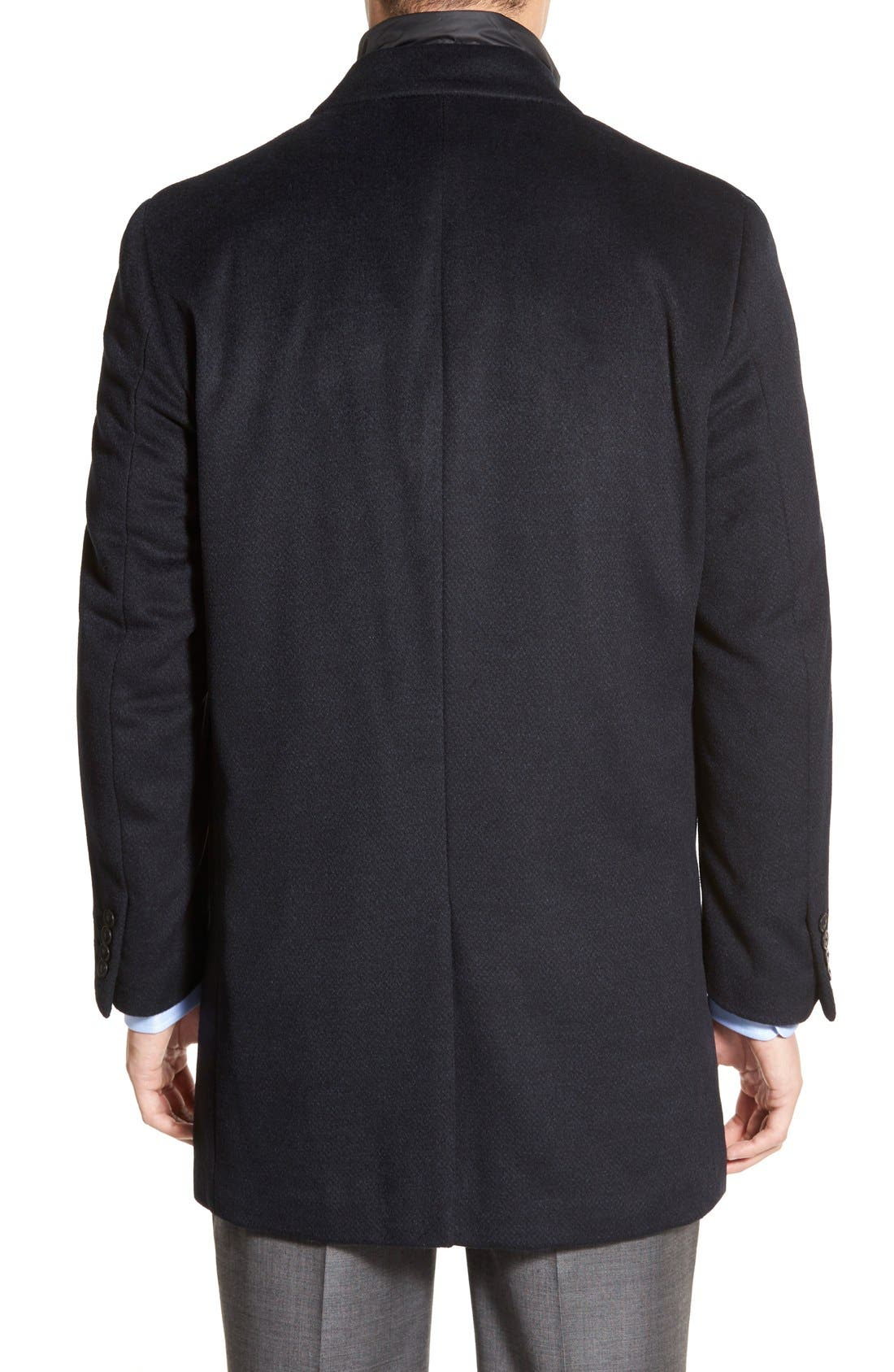 Alternate Image 2  - Hart Schaffner Marx Kingman Modern Fit Wool Blend Coat with Removable Zipper Bib
