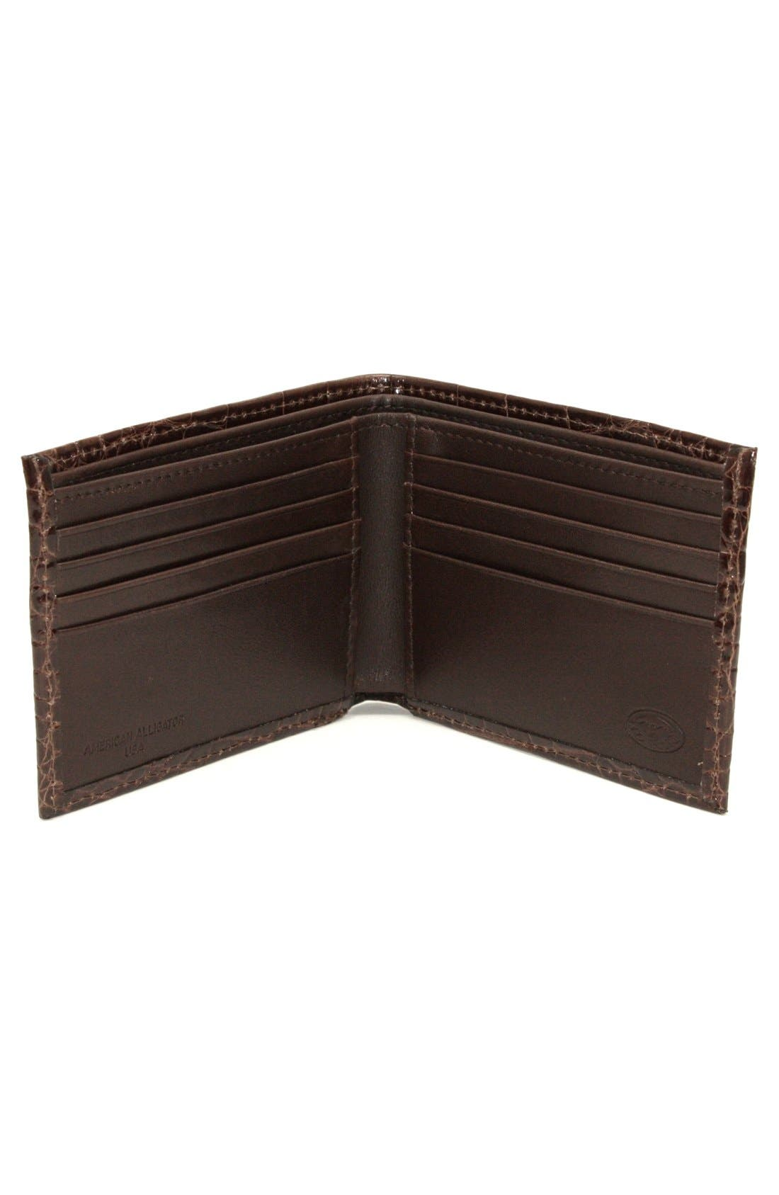 Alternate Image 2  - Torino Belts Genuine Alligator Wallet