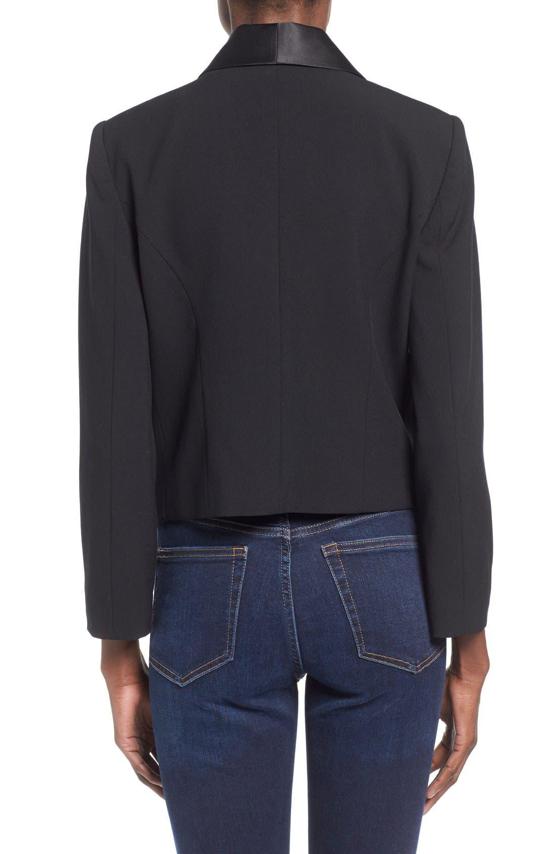 Alternate Image 3  - Mural Open Front Tuxedo Blazer