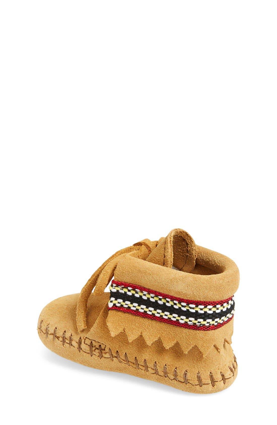 Alternate Image 2  - Minnetonka Braid Bootie (Baby & Walker)