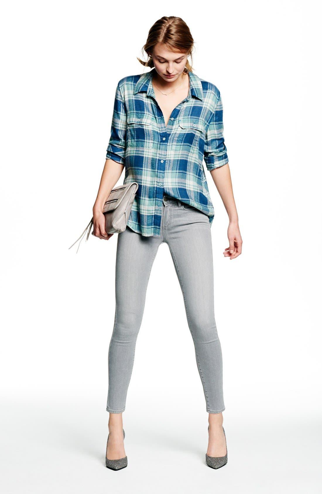 Alternate Image 7  - Paige Denim 'Verdugo' Ankle Skinny Jeans (Dove Grey)