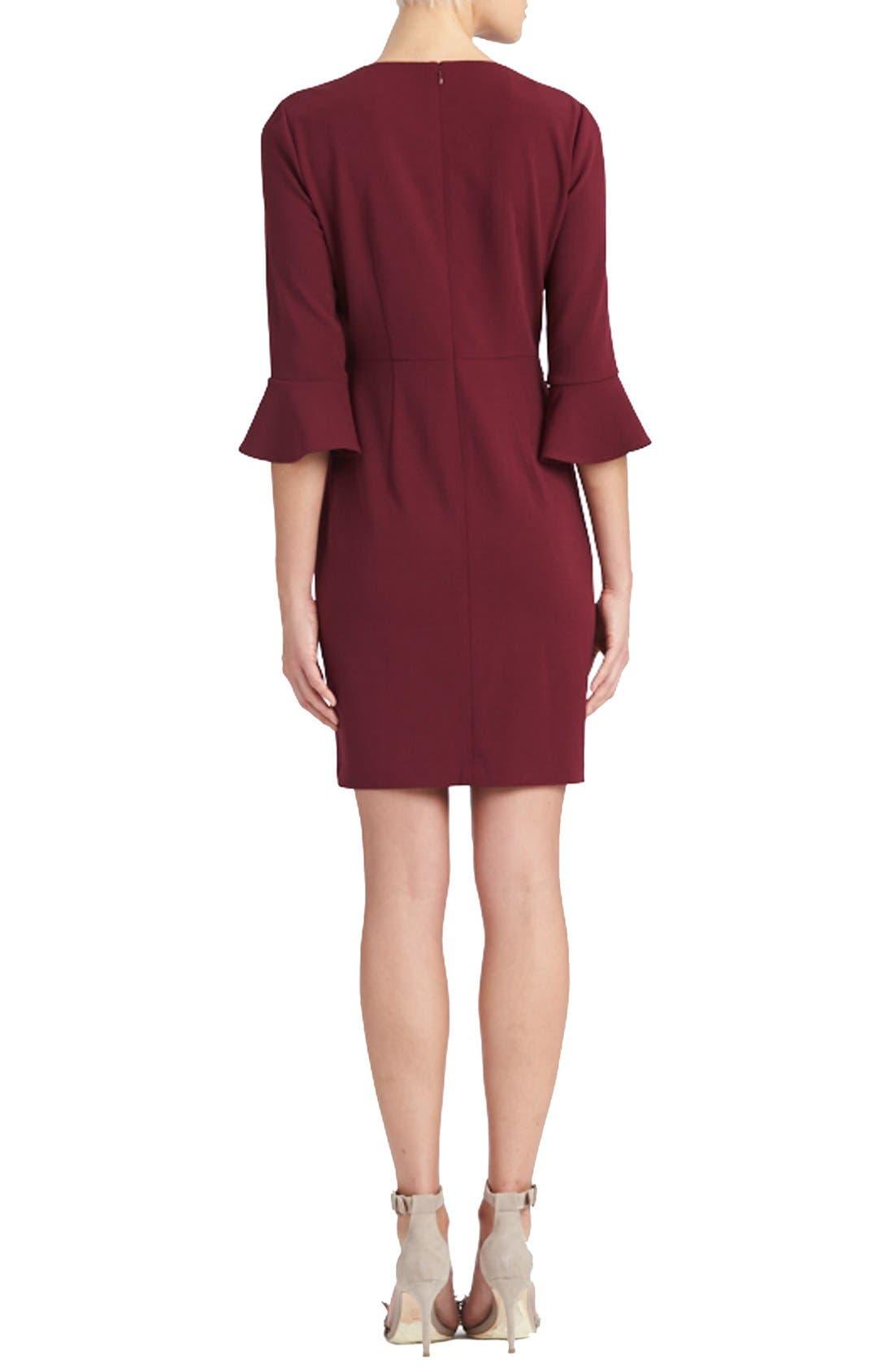 Alternate Image 2  - Donna Morgan Belle Sleeve Crepe Sheath Dress