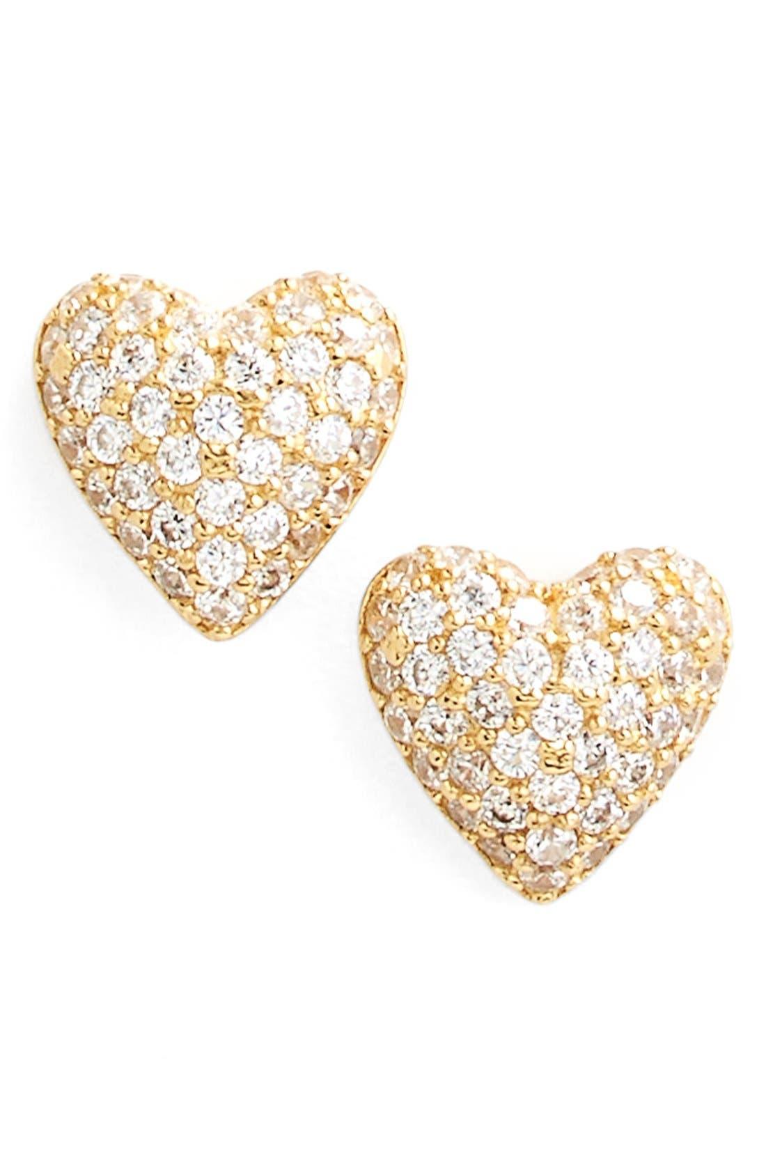 Alternate Image 1 Selected - Nadri 'Valentine's Day' Heart Stud Earrings