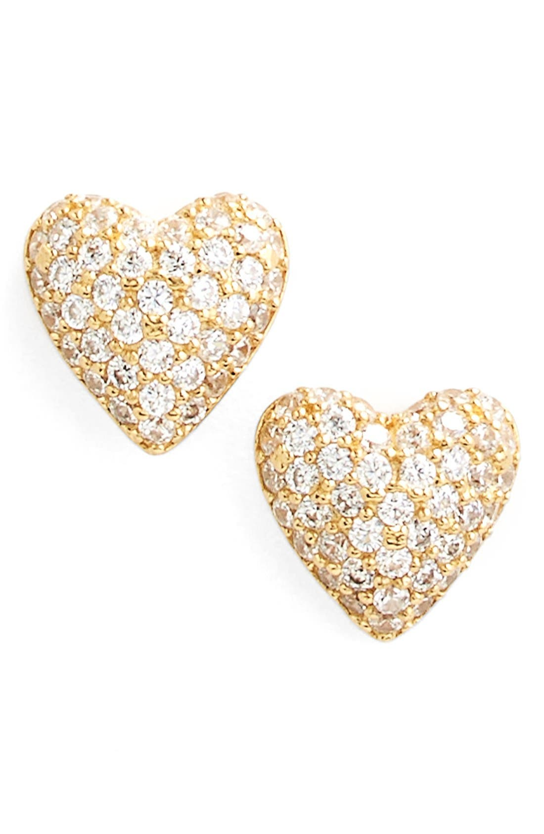 Main Image - Nadri 'Valentine's Day' Heart Stud Earrings