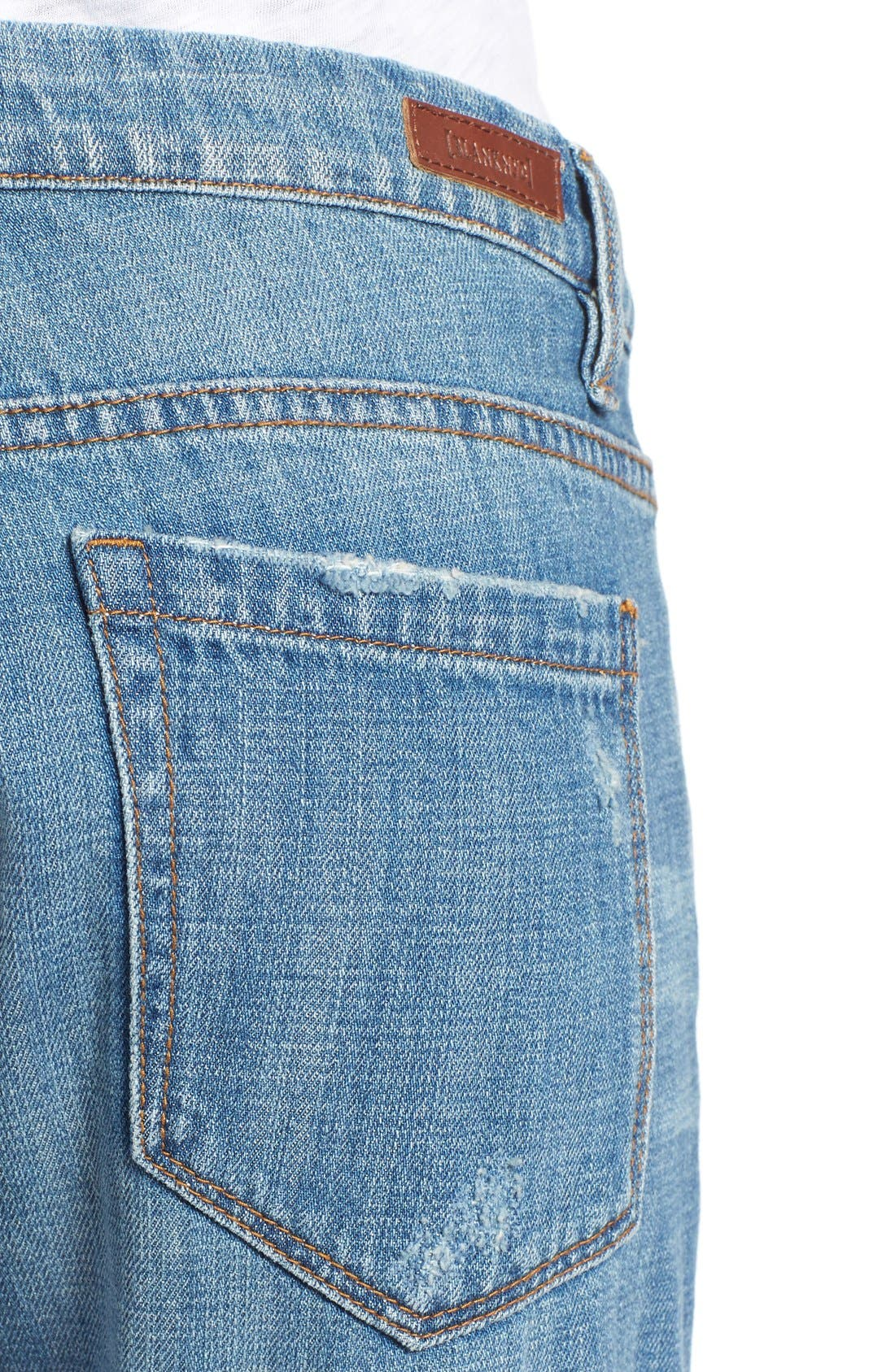 'Meant to Be' High Rise Distressed Boyfriend Jeans,                             Alternate thumbnail 5, color,                             Tomboy