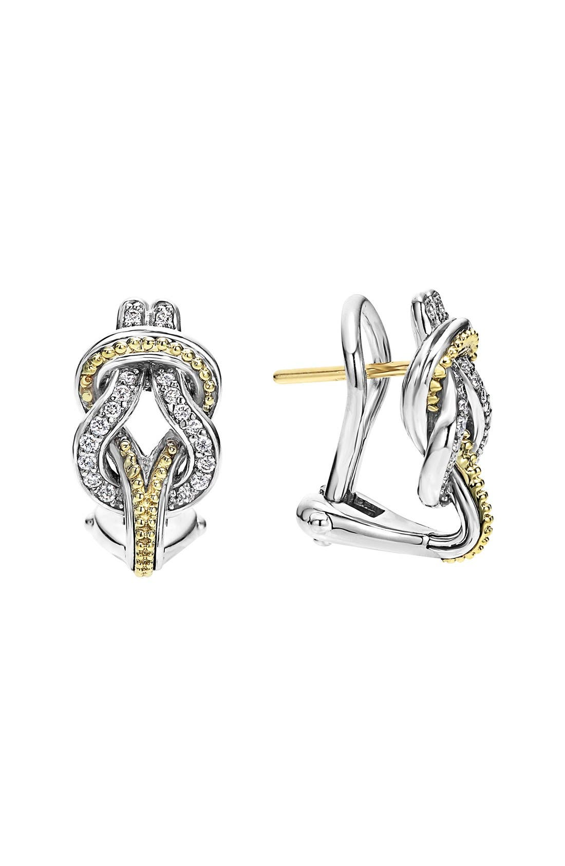LAGOS 'Newport' Diamond Knot Earrings