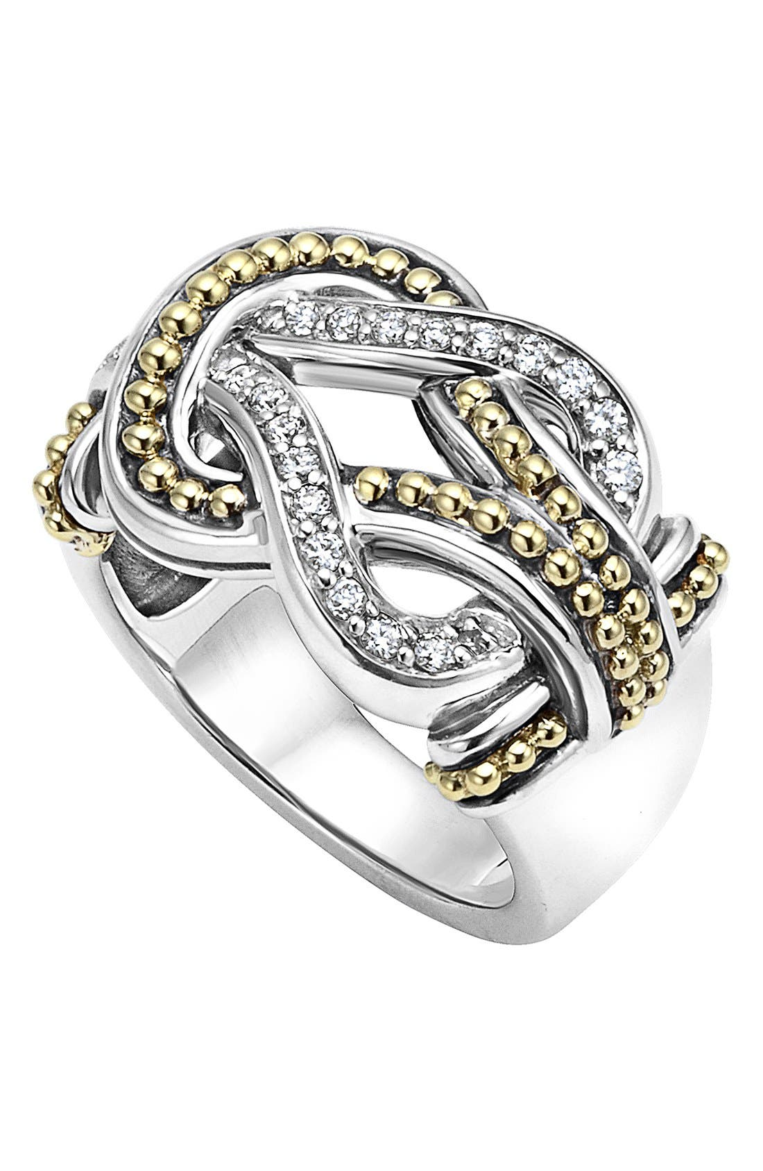 LAGOS Newport Diamond Knot Ring