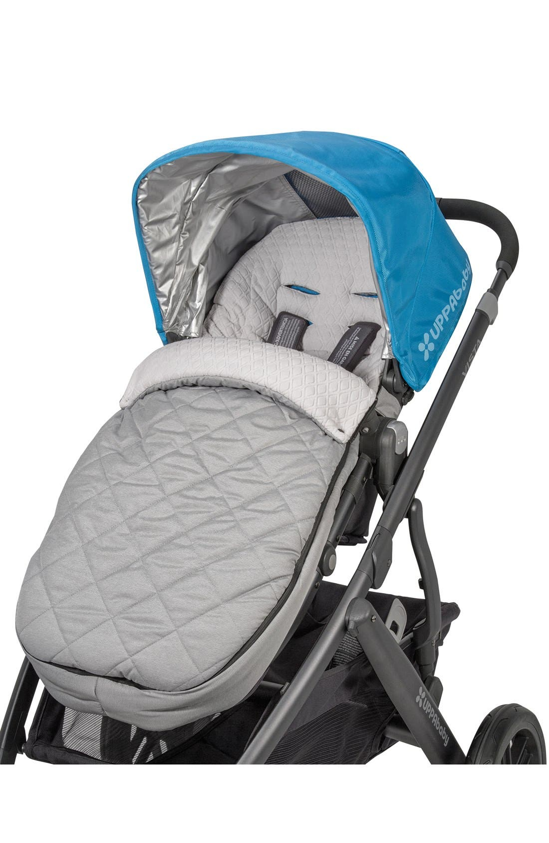 CozyGanoosh Water Resistant & Insulated Stroller Footmuff,                             Main thumbnail 1, color,                             Grey