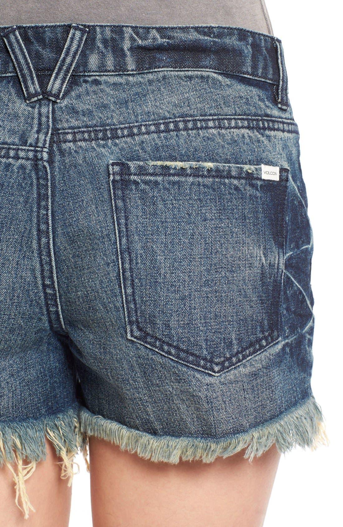 Alternate Image 4  - Volcom 'Stoneshort 3' Denim Shorts