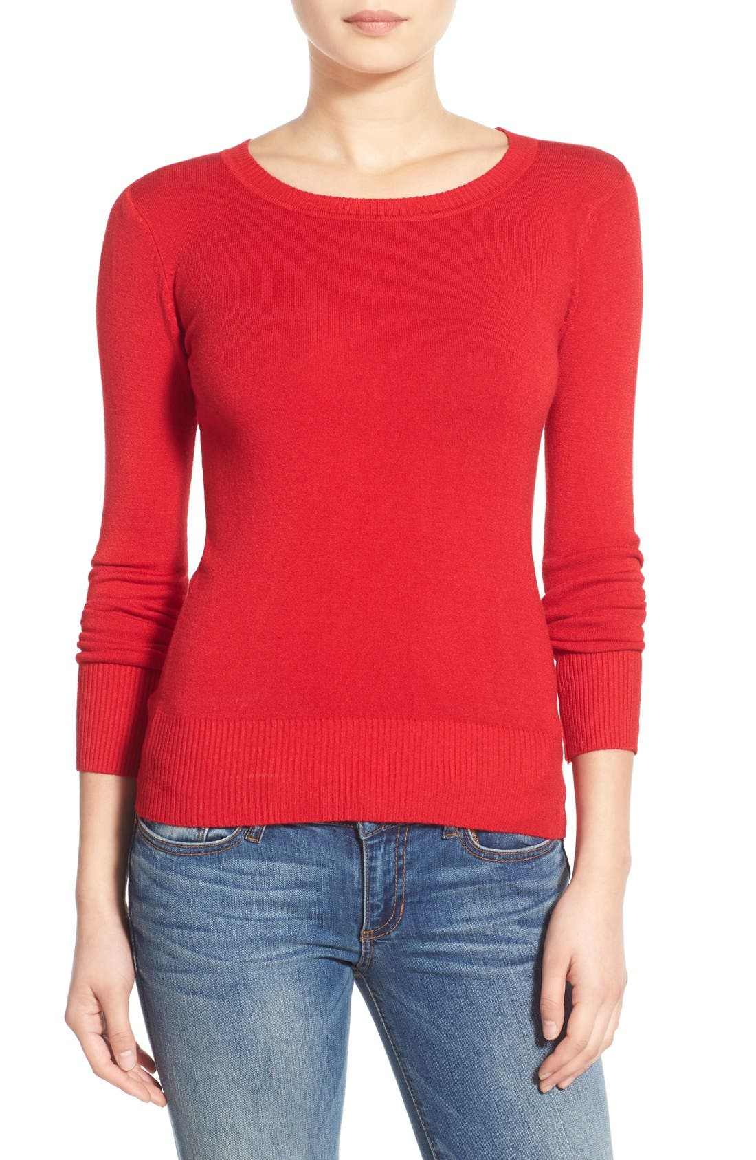 Main Image - Dreamers by Debut Skivvy Sweater (Juniors)