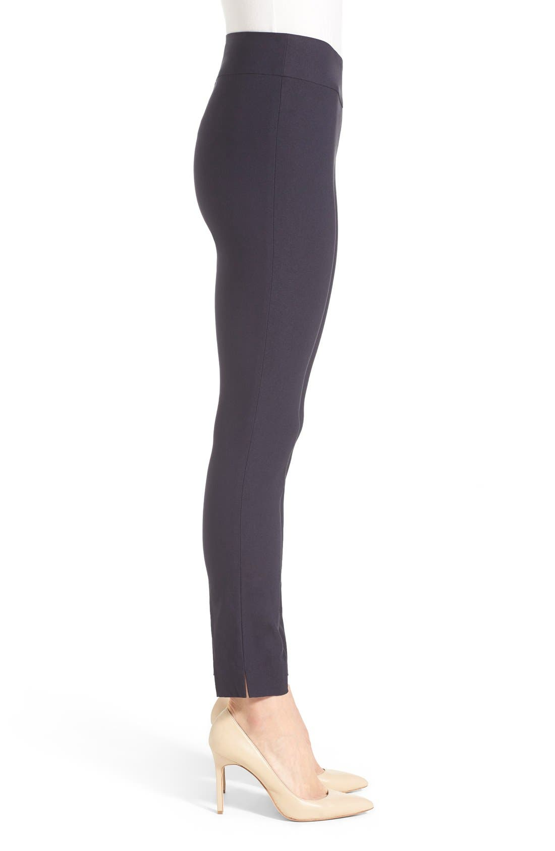 'The Wonder Stretch' Slim Leg Pants,                             Alternate thumbnail 3, color,                             Midnight