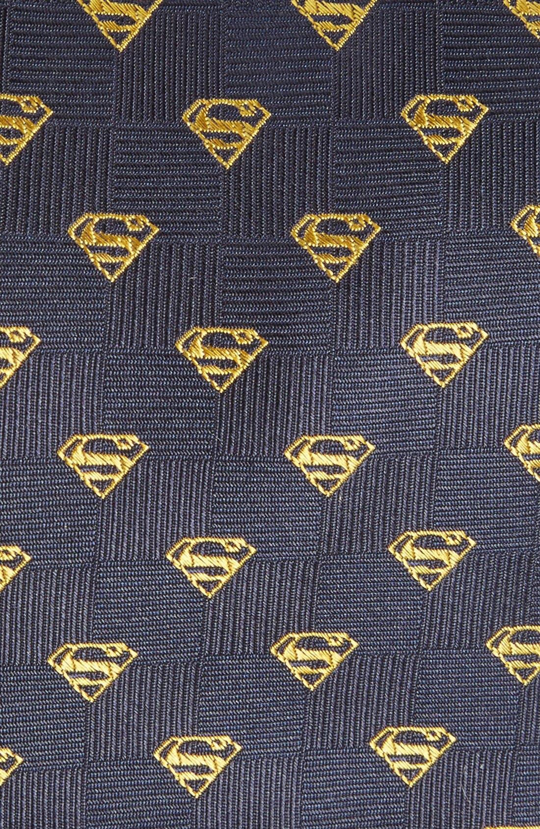 'Superman Shield' Silk Tie,                             Alternate thumbnail 2, color,                             Blue