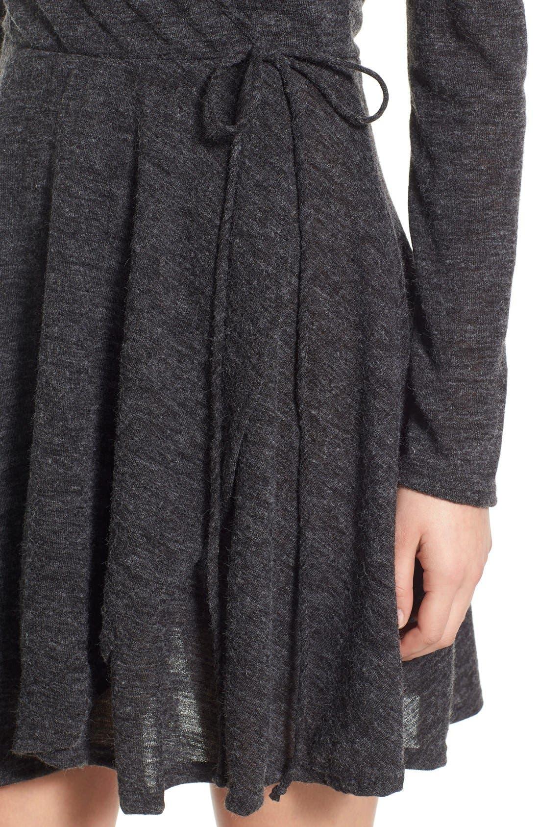 Alternate Image 4  - jella c. Long Sleeve Wrap Dress
