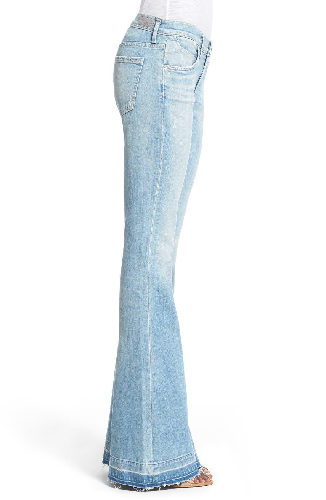 Alternate Image 3  - A Gold E 'Madison' Ultra Flare Jeans (Blue Lagoon)
