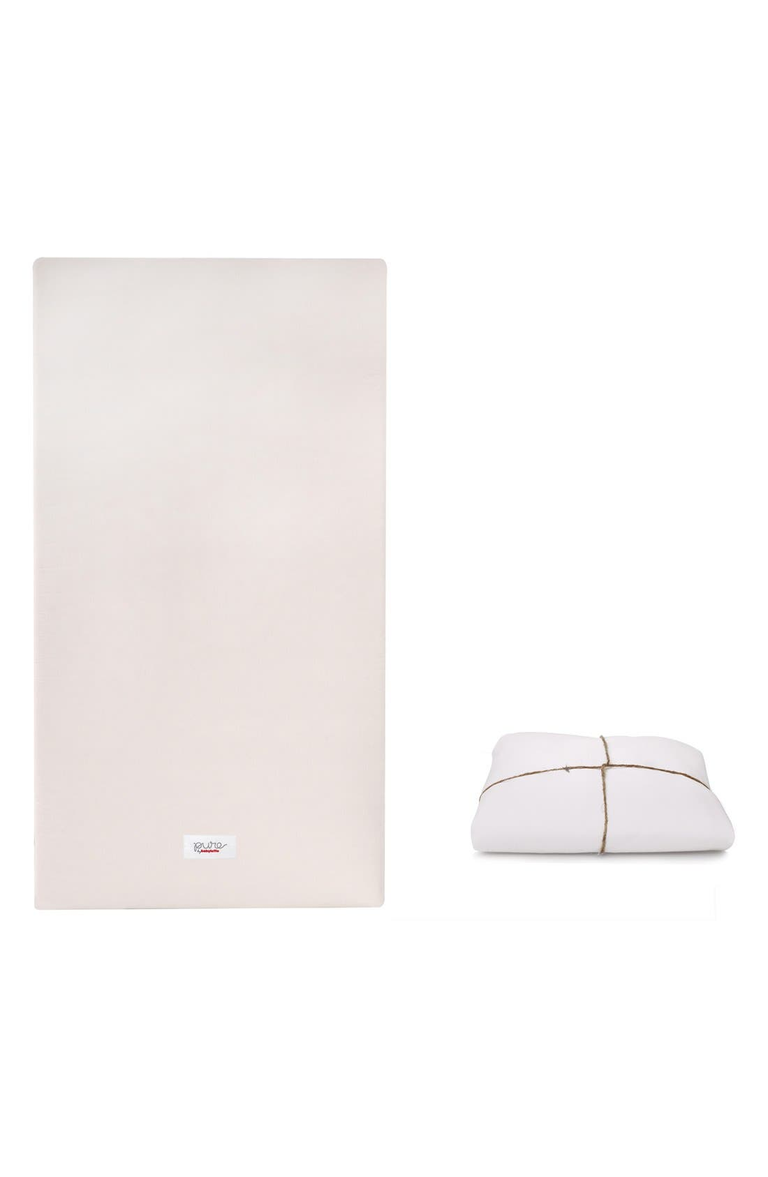 Alternate Image 1 Selected - babyletto 'Coco Core' Nontoxic Crib Mattress & DRY Waterproof Cover