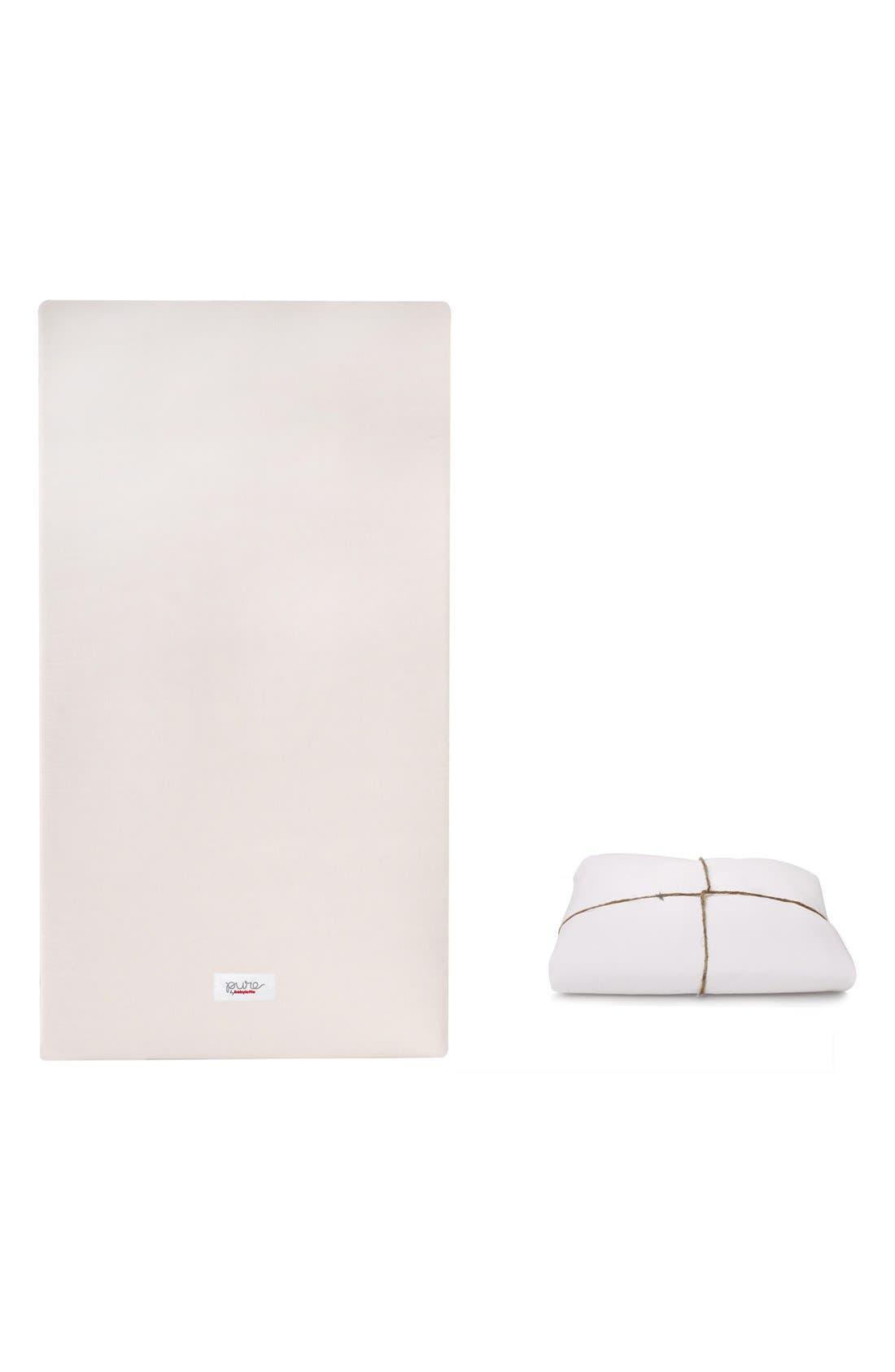 'Coco Core' Nontoxic Crib Mattress & DRY Waterproof Cover,                         Main,                         color, White