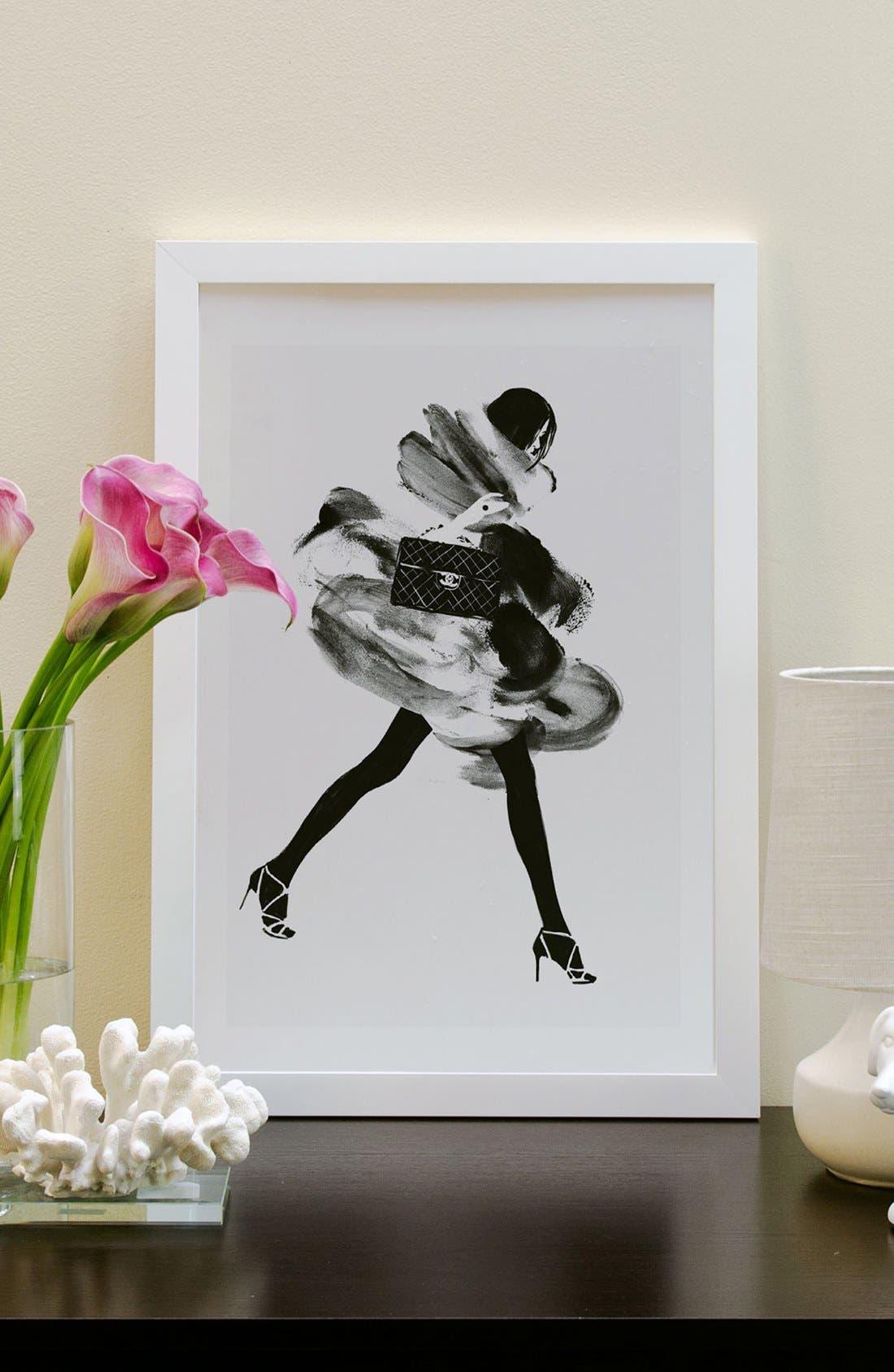 Alternate Image 2  - iCanvas 'Running Late' Framed Fine Art Print