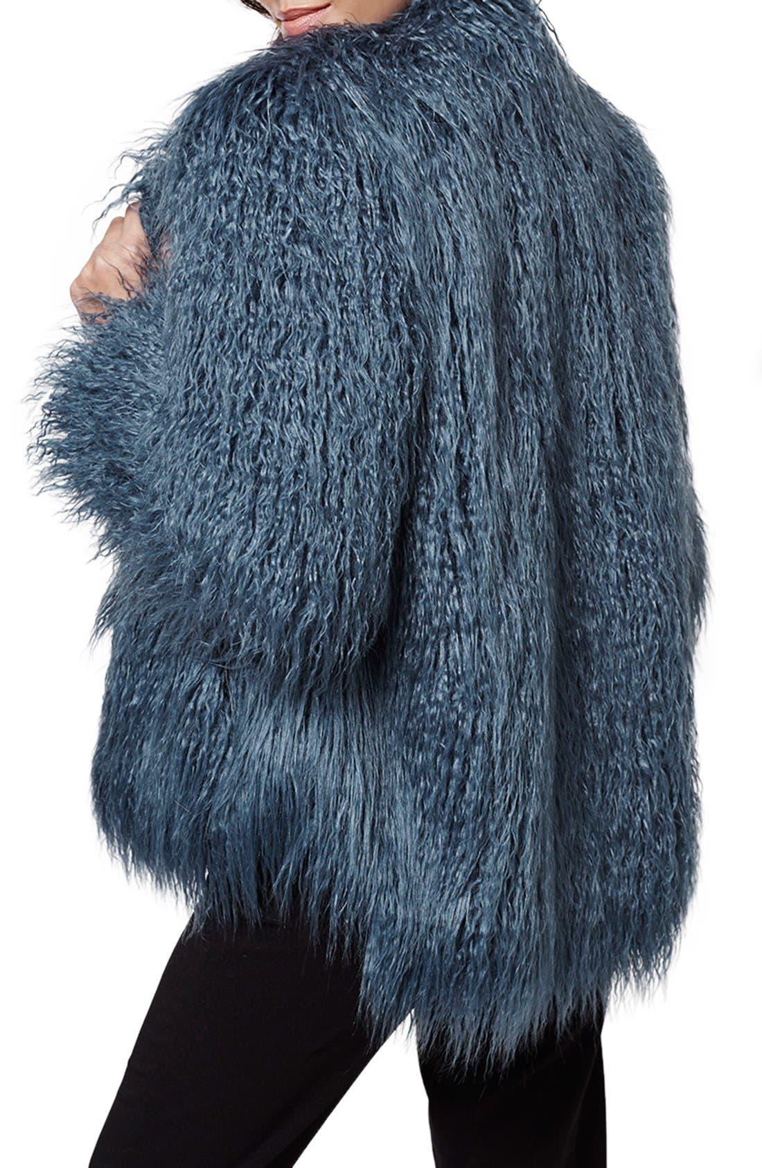 Alternate Image 3  - KENDALL + KYLIE at Topshop Faux Fur Coat