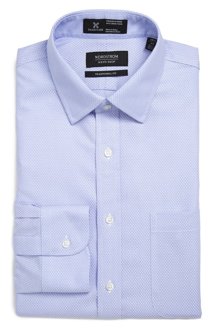 Nordstrom men 39 s shop smartcare wrinkle free traditional Best wrinkle free dress shirts